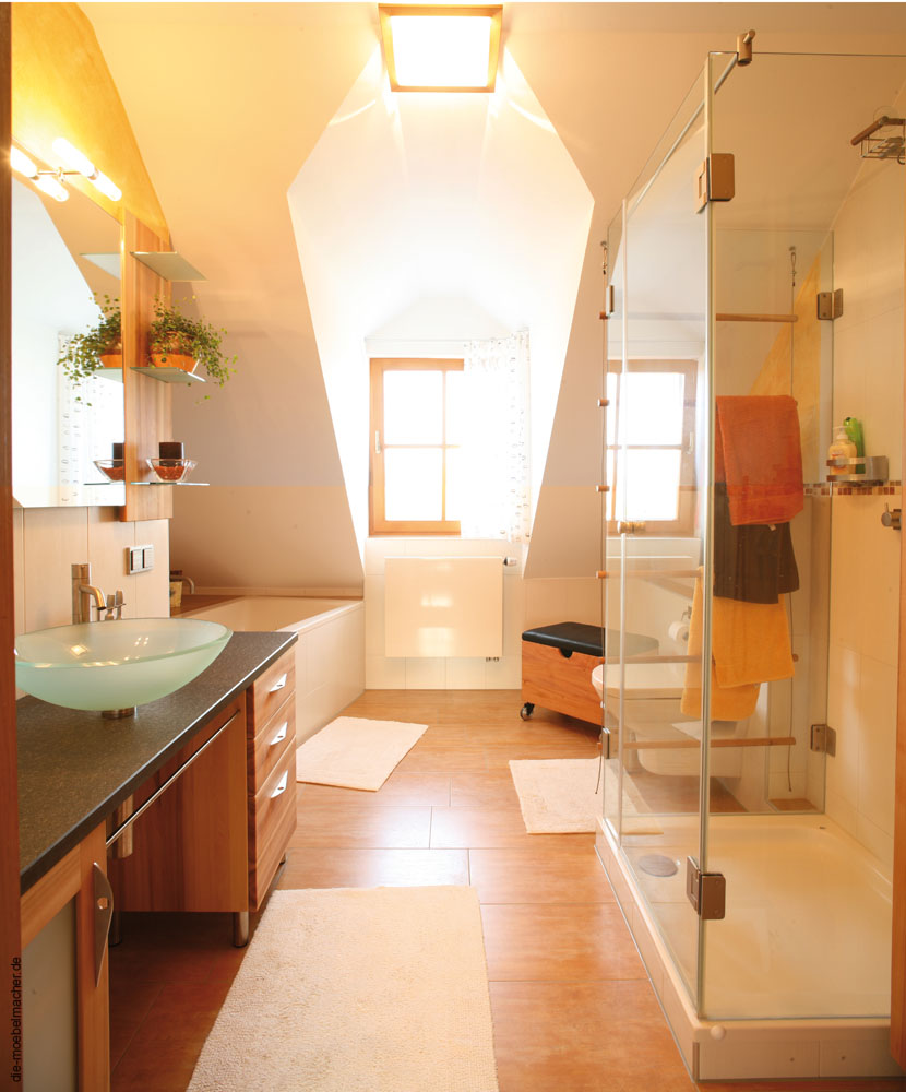 solnhofener platten im badezimmer, badezimmerbeispiele2: die möbelmacher, Innenarchitektur