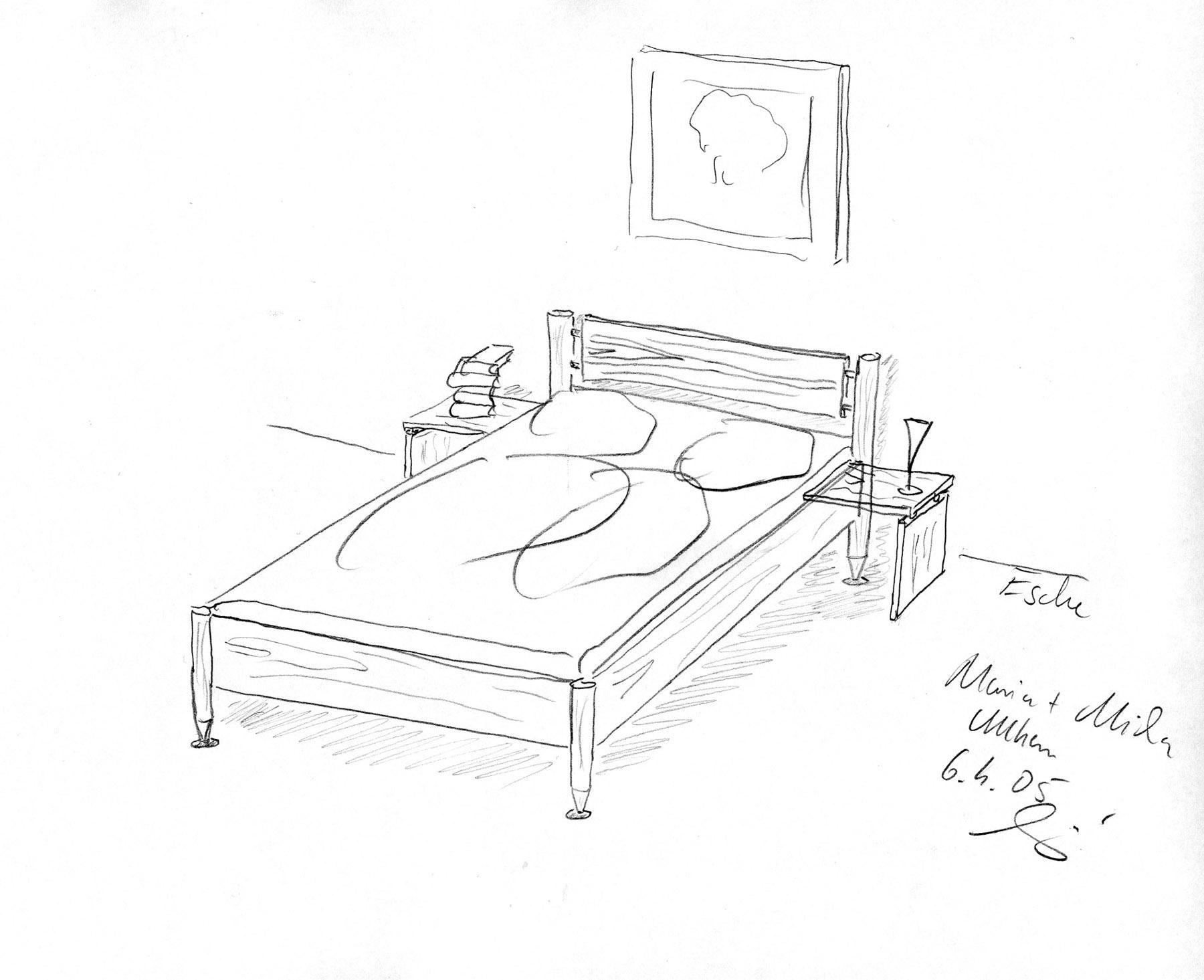 Preise m belkauf die m belmacher for Bett zeichnung