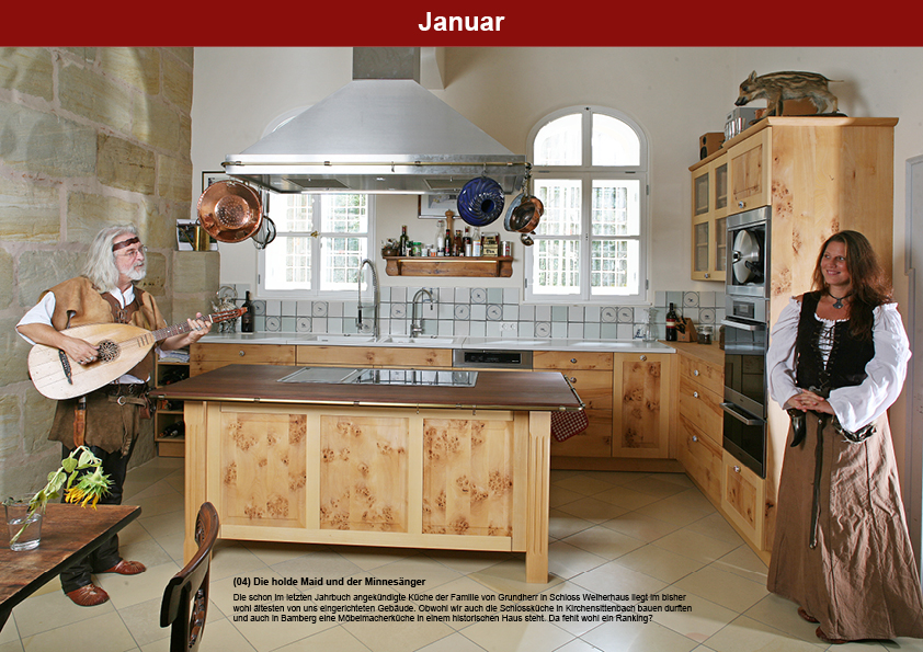 Schlossküche in verwachsener Buche in Feucht Weiherhaus: Die Möbelmacher