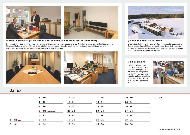 So Sieht Das Kalendarium Unseres Jahrbuchs Aus