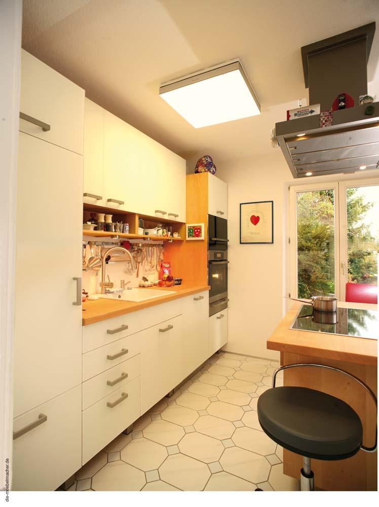 Küchenbeispiele 2008 mit Thermobuche, Krischbaum und ganz weißen ...