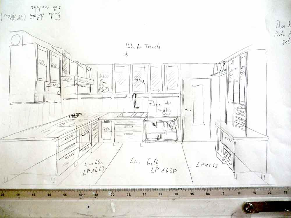 Die Ersten Entwürfe Der Neuen Modernen Küche