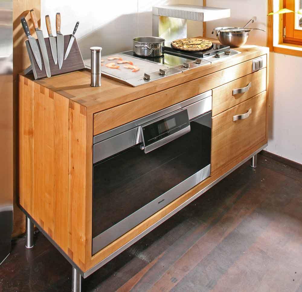 Tag der kuche aus massivholz am 12909 die mobelmacher for Gasbrenner küche