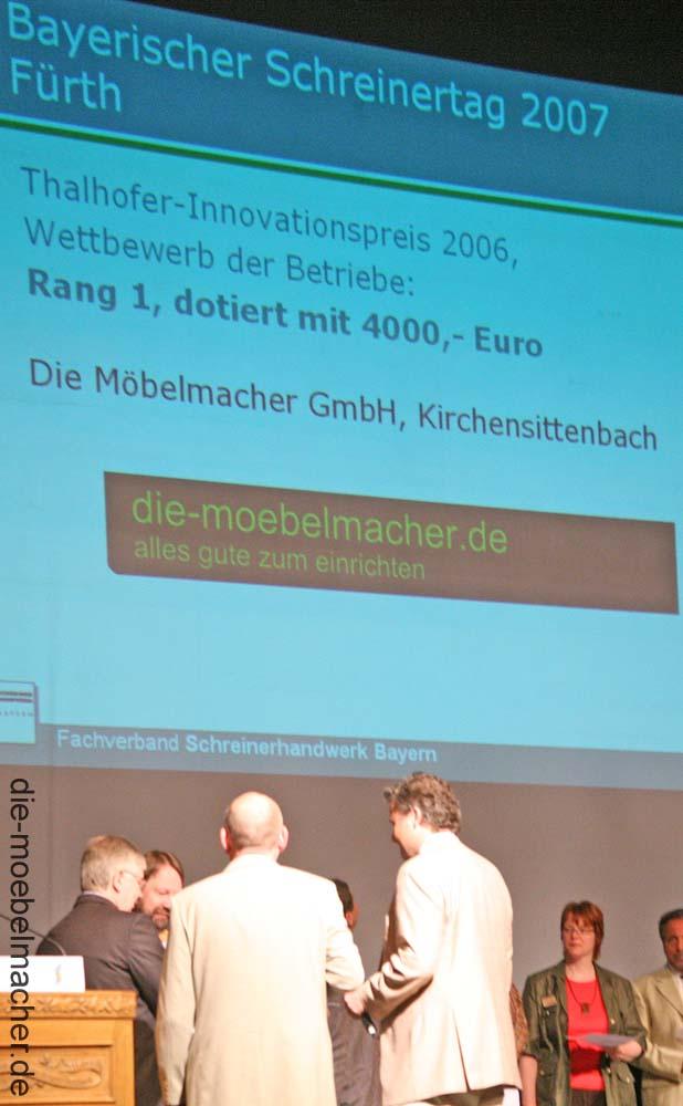 Thalhoferpreis 06 07 die m belmacher - Die mobelmacher ...