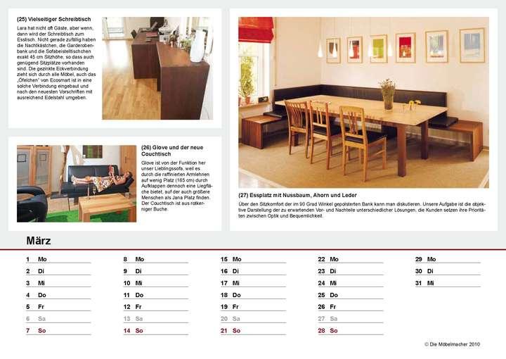 Kalender 2010: Die Möbelmacher