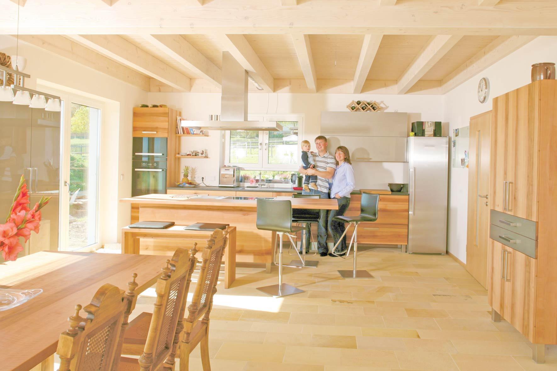 Massivholzküche In Elsbeere