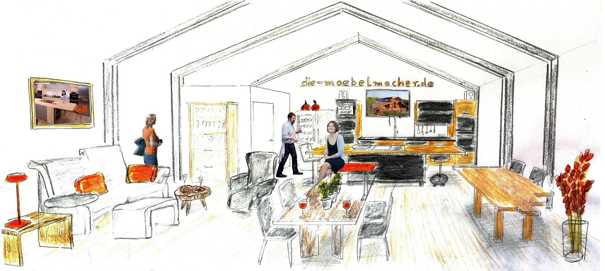 heim und handwerk mit moderner massivholzk che die. Black Bedroom Furniture Sets. Home Design Ideas