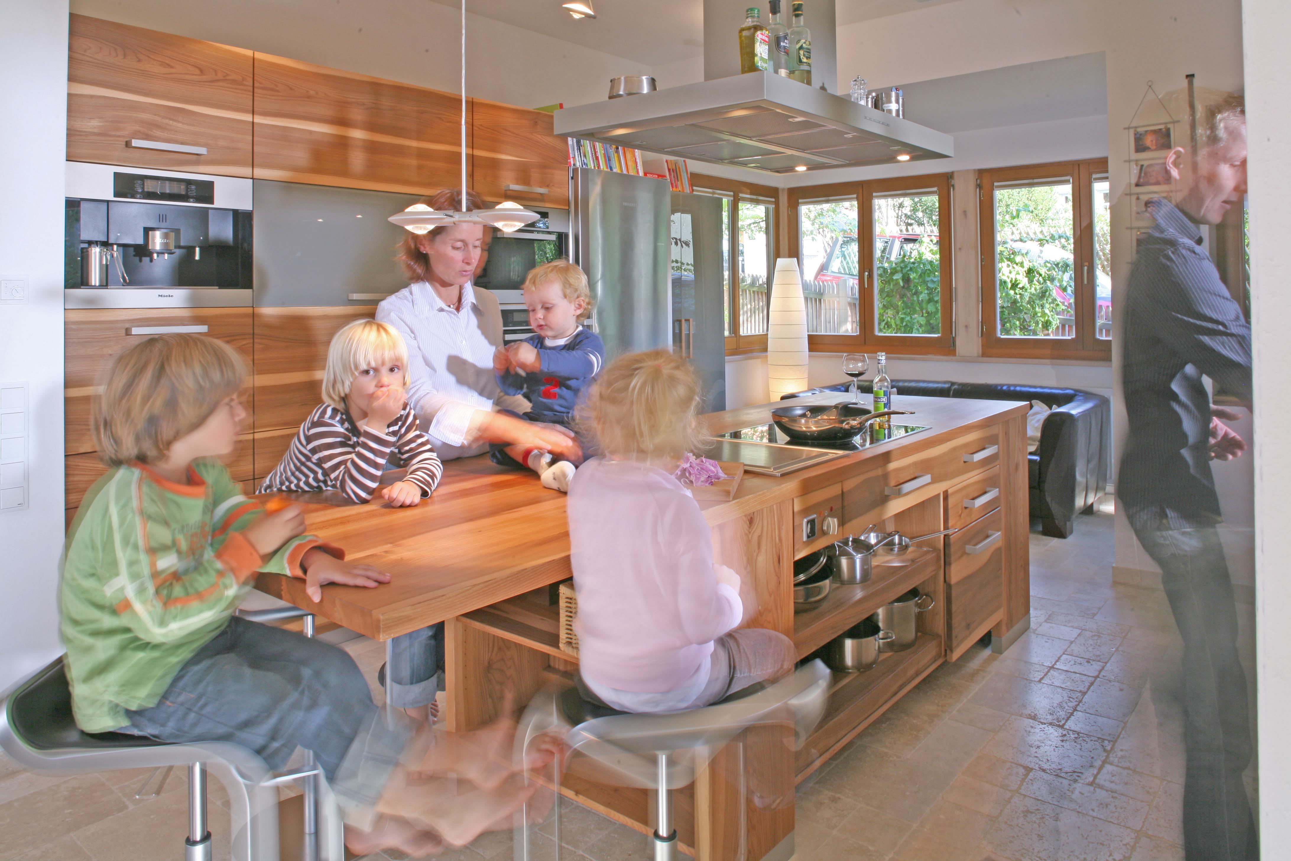 Massivholzküche, Vollholzküche, Designküche, Holzküche aus Buche ...
